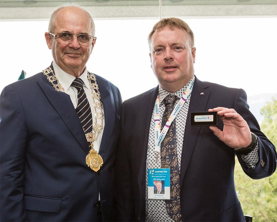 mayor doug chipman and ian edwards
