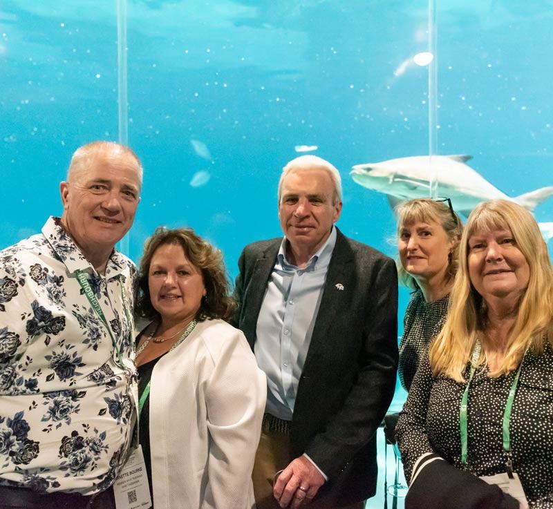 delegates in the shark tank at Sea World